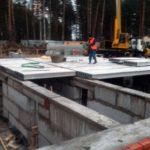 Строительство ленточного фундамента из ФБС с перекрытием плитами