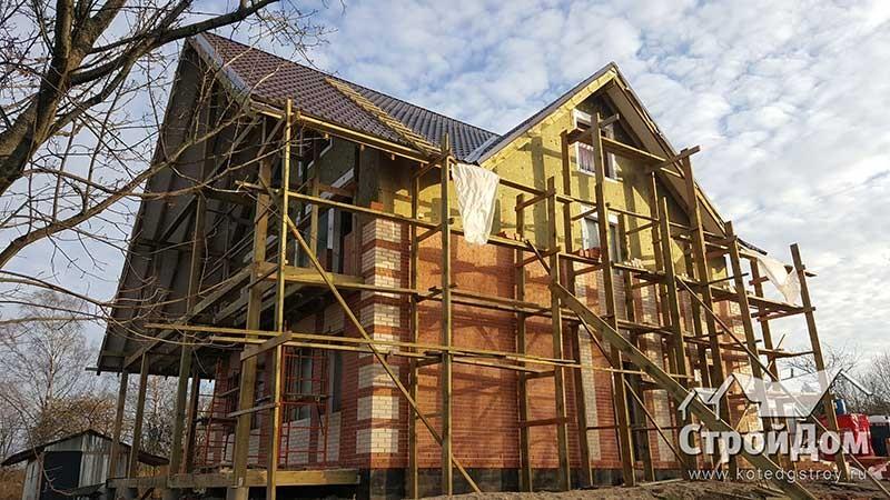 Отделка фасадов дома в Ломоносовском районе