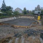 Откопка котлована при строительстве цокольного подвального этажа армирование плиты