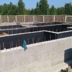 Строительство ленточного фундамента бетонные стены подвального этажа с гидроизоляцией