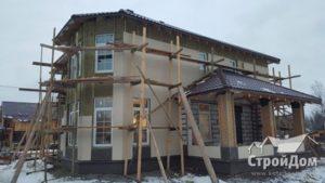 Nichiha Отделка фасадов загородного дома зимой