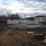 Строительство первого этажа загородного дома из газобетона под ключ