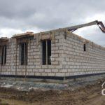 Строительство первого этажа загородного дома из газобетона под ключ. Заливка перекрытия.