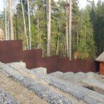 Подпорная стена, габионы, забор