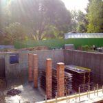 Строительство дома с цокольным подвальным этажом несущие колонны из кирпича