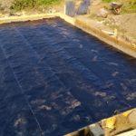 Строительство фундамента загородного дома, наплавляемая гидроизоляция