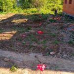 Разметка свайного фундамента террасы загородного дома