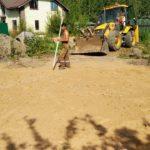 Строительство фундамента загородного дома, песчаная подготовка