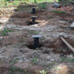 Строительство свайного фундамента террасы загородного дома