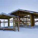 Строительство дома зимой - деревянный каркас
