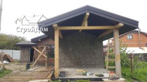 Отделка фасадов имитацией бруса и натуральным камнем в Красном Селе и Ломоносовском районе СПб(153)