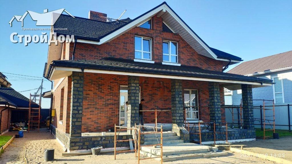 Отделка домов кирпичом в Санкт-Петербурге и Ленинградской области, облицовка стен кирпичом, отделка фасадов домов